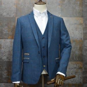 Marc Darcy Dion Herrigbone Suit