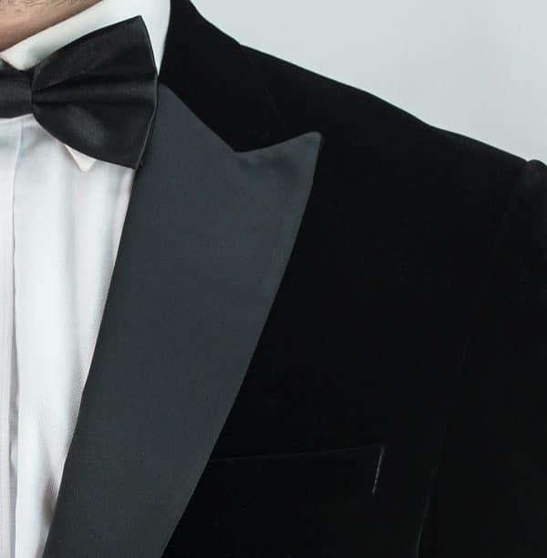 Men's Black Velvet Blazer
