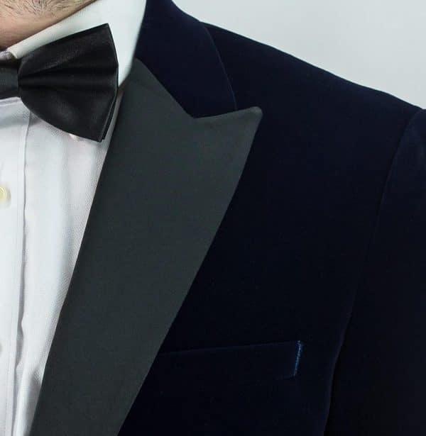 Men's Navy Velvet Jacket