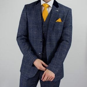 Miles Peaky Blinders Inspired Blue Tweed Suit