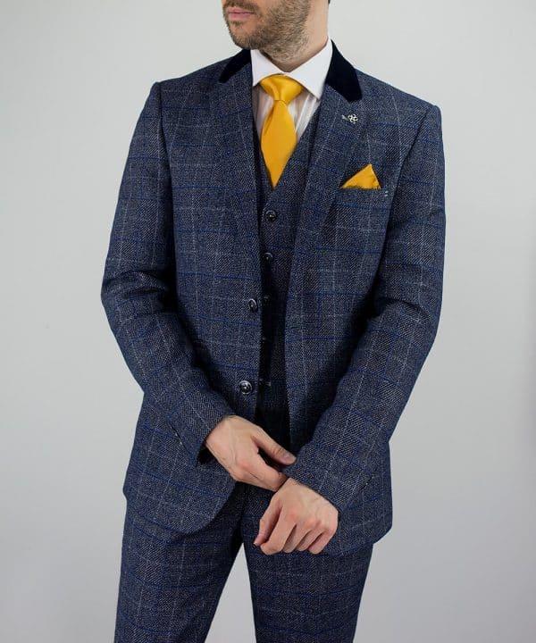Miles Peaky Blinders Inspired Blue Tweed Suit