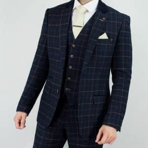 Shelby 'Peaky Blinders' Inspired Navy Tweed Suit